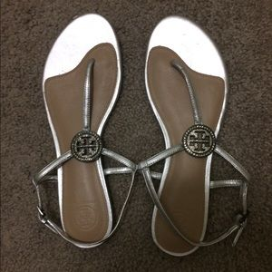 New Tory Burch Liana Crystal t-strap sandals sz8.5